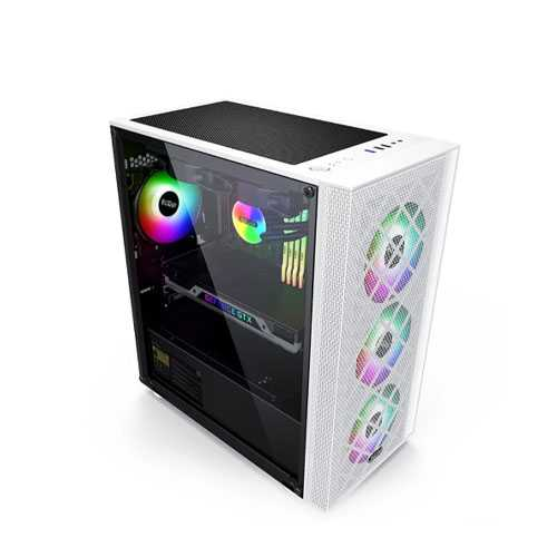 PCCOOLER GAME 6 MATX TEMPERED GLASS MID TOWER GAMING CASE (WHITE)
